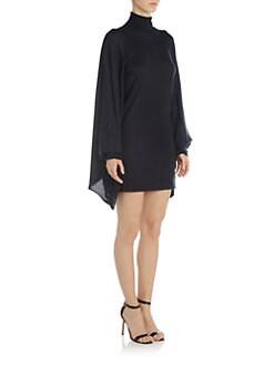Emilio Pucci - Cape Sleeve Turtleneck Sweater Dress