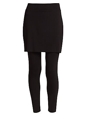 74cbe07a40aac Eileen Fisher - Jersey Skirted Ankle Leggings - saks.com