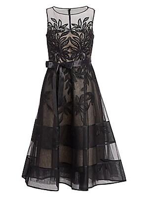 28ffc4a417f Teri Jon by Rickie Freeman - Lace Illusion Sleeveless Dress - saks.com