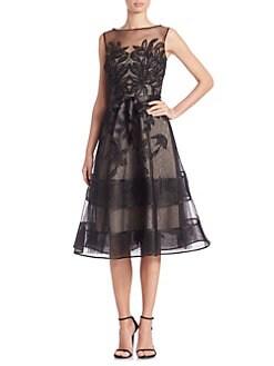 cce32f37df31a Lace Illusion Sleeveless Dress SILVER · Product image · Teri Jon by Rickie  Freeman