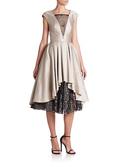ABS - Satin & Lace Cocktail Dress