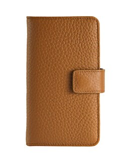 17547711f4c9d Pebbled Leather iPhone 6 Case Wallet SADDLE. QUICK VIEW. Product image