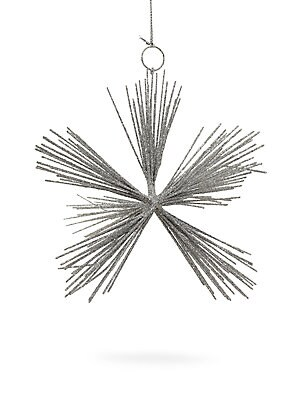 "Image of Striking hand-made metallic star ornament. Height, 6"" Wire Spot clean Imported. Gourmet Food & - Trim A Home. Briefing."