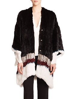 Elizabeth and James - Astor Fur Poncho