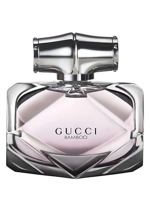 Image of A new fragrance for a modern, multi-faceted woman. The modern Gucci woman shares bamboo's characteristics. She balances strength and confidence with her innate femininity and poise. She is sensual yet powerful and commanding. She bends yet she does not br