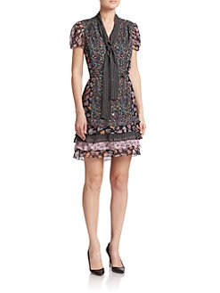 Diane von Furstenberg - Gypsy Stretch-Silk Tie Dress