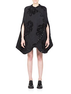 Simone Rocha - Embellished Baroque Tapestry Cape
