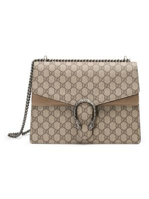 3e97562c5 Gucci Dionysus GG Supreme Medium Canvas Shoulder Bag