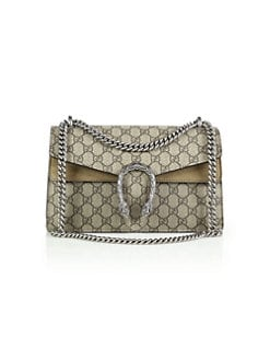 e4031f83fc QUICK VIEW. Gucci. Dionysus GG Supreme Small Coated Canvas Shoulder Bag