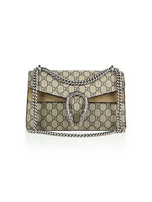 b2b42cbf71d8 Gucci - Dionysus GG Supreme Small Coated Canvas Shoulder Bag - saks.com