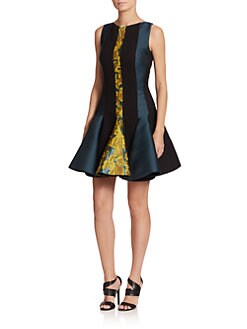 Antonio Berardi - Paneled Flounce Dress