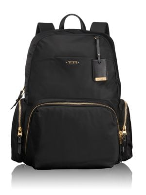 "Image of Practical, pretty and versatile, this backpack is ideal for business, travel and everyday outings. It has a laptop (15"") pocket and other interior organizer pockets for electronics and personal accessories. .Top handle. Adjustable, padded shoulder straps."