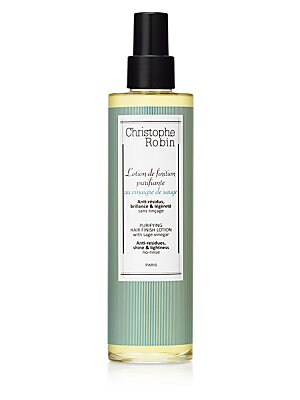 Image of Cleanses, Balances, Anti-inflammatory. Purifying hair finish lotion with rebalancing and soothing properties. Ideal to help remove residues left on the scalp and bring lightness and shine. A simple daily gesture for healthy hair for roots to tips, and a t