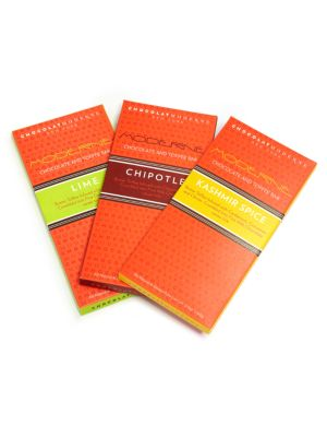 Three Moderne Spice Chocolate Bars