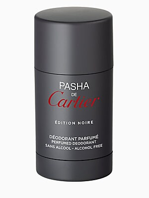 Image of An alcohol-free deodorant stick capturing the intensity of the Pasha de Cartier Edition Noire scent. A non-greasy, refreshing and soothing formula for sensitive skin that leaves your skin delicately scented. 2.5 oz. Made in France. Fragrances - Cartier Fr