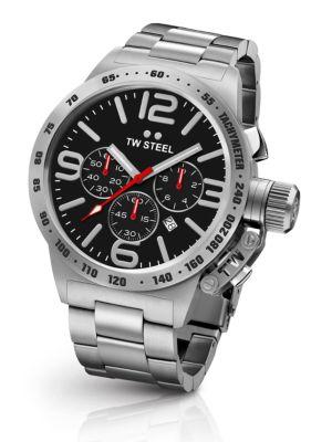 TW STEEL Canteen 50Mm Stainless Steel Bracelet Watch