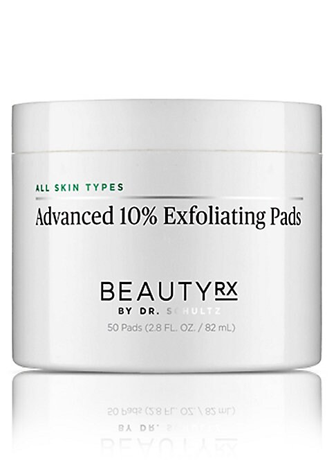 Image of A step up from the BeautyRx Essential 8% Exfoliating Serum, these advanced-strength 10% glycolic exfoliating pads effectively remove dead skin cells to reveal radiant, younger looking skin. The combined chemical and physical exfoliation work gently to eve