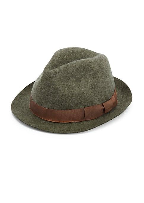 "Image of Classic hat in sturdy Italian wool felt. Brim, 1.75"".Wool felt. Dry clean. Made in Italy."