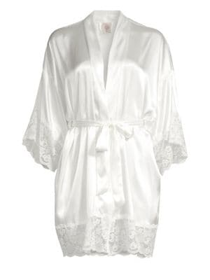 The Bride Satin & Lace Wrapper Robe by In Bloom