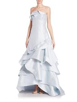Carolina Herrera - Strapless Ruffled Ball Gown