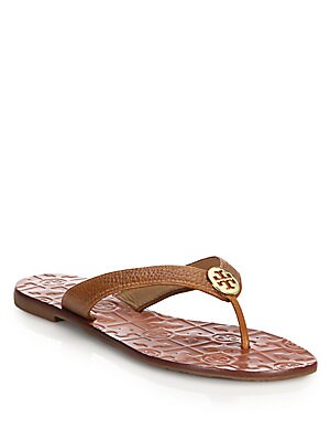e596de93115 Tory Burch - Thora Tumbled Leather Thong Sandals - saks.com
