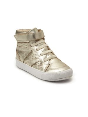 Old Soles Toddler's & Kid's Metallic Leather Star