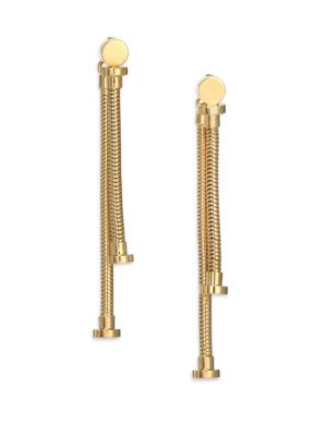 HOUSE OF LAVANDE Batari Nail-Head Double-Sided Drop Earrings in Gold