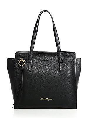 Salvatore Ferragamo - Amy Convertible Leather Tote - saks.com b06812b1243df