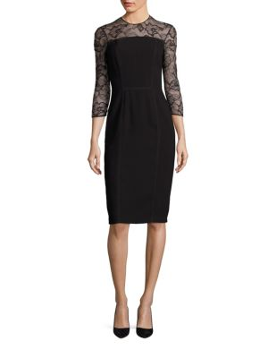 Buy Carmen Marc Valvo Floral Lace Sheath online with Australia wide shipping