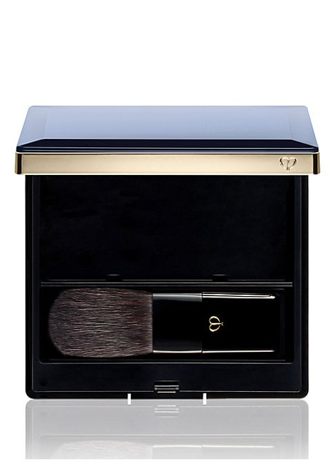 Image of Case and brush designed specifically for powder blush duo. Made in France. .Ask the experts. Our Beauty Advisors are here to help. Send an email to. CleDePeauBeautySpecialist@s5a.com.