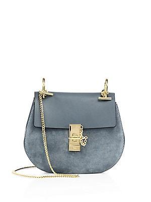 fb636bc46a Chloé - Small Drew Leather   Suede Saddle Bag - saks.com