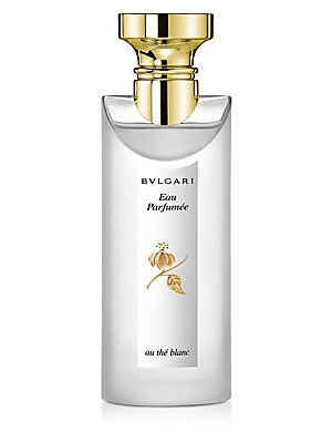 Image of Both men and women can wear this delicate fragrance by Bvlgari, Bvlgari Eau Parfumee Au The Blanc has a soothing white tea scent with white pepper accents, its great for day or evening. White Tea, the principal ingredient, has been used in China as an eli