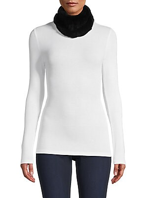 "Image of Elegance and warmth collide on this luxurious design of rabbit fur that can be worn as a headband or as a scarf. 8""W X 8""H Fur type: Sheared, dyed rabbit Fur origin: China Dry clean by fur specialist Imported. Soft Accessorie - Cold Weather Accessories. S"