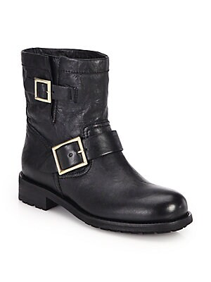 Jimmy Choo. Youth Leather Biker Boots