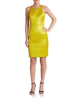 MILLY - Croc-Embossed Neoprene Dress