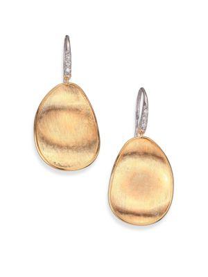 Marco Bicego Lunaria Diamond 18k Yellow Gold Drop Earrings