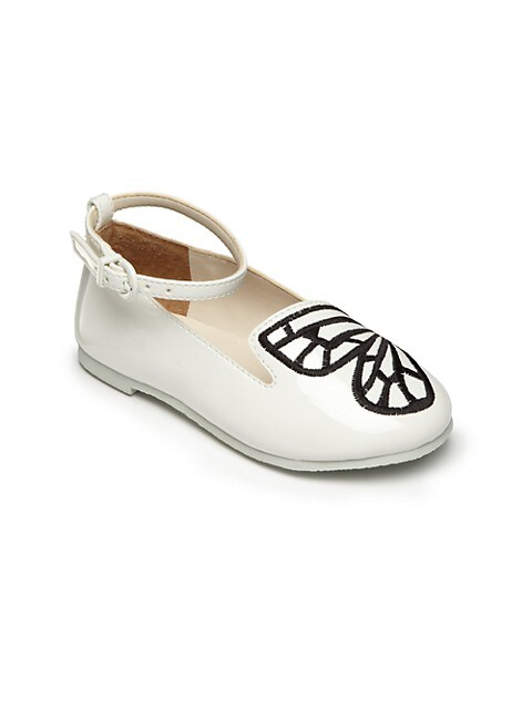 Baby's, Little Girl's & Girl's Bibi Butterfly Mini White Shoes