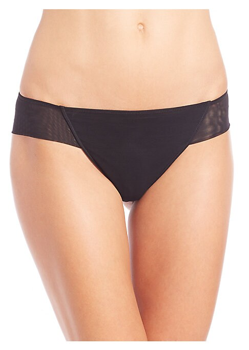 Image of .Brazilian brief in soft, Italian-stretch fabric. Cotton gusset. Nylon/elastane. Hand wash. Made in Italy.