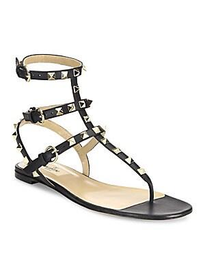 cc95fc5c66a9 Valentino Garavani - Rockstud Gladiator Thong Sandals - saks.com