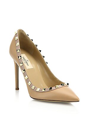 9b315cd6409 Valentino Garavani - Leather Rockstud Pumps - saks.com
