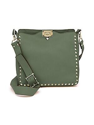 Valentino Garavani - Mini Rockstud Hobo Bag - saks.com a968bfc537f41