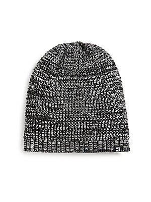 Image of Cold-weather classic of marled yarn Acrylic Hand wash Imported. Men Accessories - Cold Weather Accessories. Block Headwear. Color: Black.