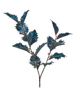 Metallic Holly Branch