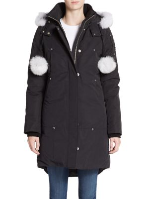 Stirling Fur-Trim Parka plus size,  plus size fashion plus size appare