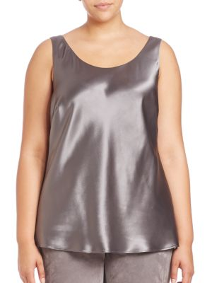Luxe Charmeuse Bias Tank plus size,  plus size fashion plus size appare