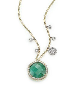 cc1cdaf81 ... Diamond & 14K Yellow Gold Pendant Necklace GOLD EMERALD. QUICK VIEW.  Product image. QUICK VIEW. Meira T