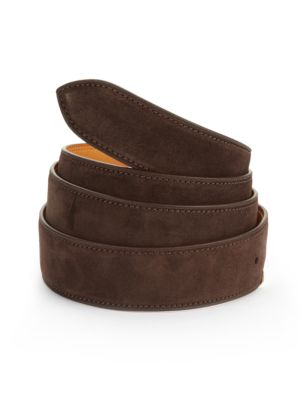 """Image of EXCLUSIVELY AT SAKS FIFTH AVENUE. Supple leather essential, hnadmade for everyday style. Strap includes five holes on back side to attach to buckle. About 1.25"""" wide. Leather. Made in France. Please note: buckle sold separately."""