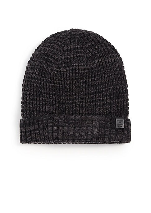 Image of Thermal cuffed beanie with a faux sherpa lining. Wool/acrylic. Dry clean. Imported.