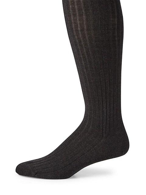 Ribbed Merino Wool Blend Socks