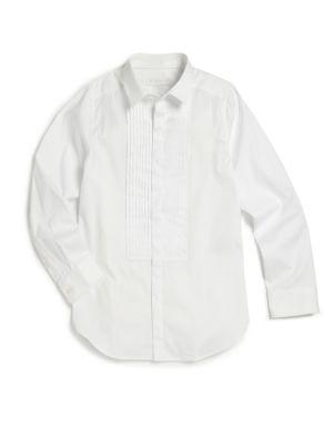 Little Boys  Boys Cotton Tuxedo Shirt